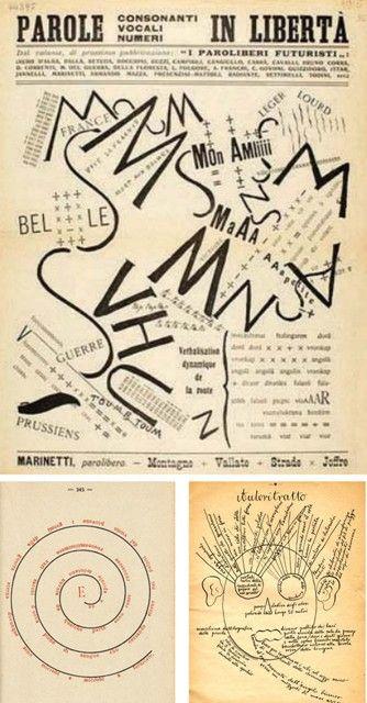 Filippo Tommaso Marinetti, Después del Marne, Joffre visitó el frente en coche, 1915 Paolo Buzzi La hélice y la espiral, 1915 Corrado Govoni Rarefacciones y palabras en libertad, 1915