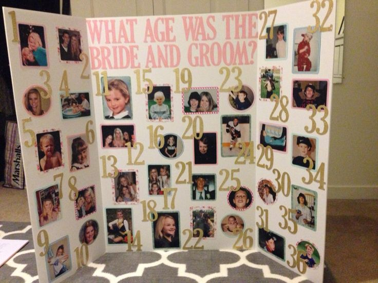 Guess the bride and grooms age bridal shower game