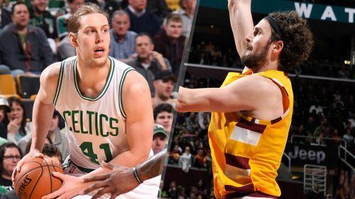 Cleveland Cavaliers Kevin Love Boston Celtics Kelly Olynyk both...: Cleveland Cavaliers Kevin Love Boston Celtics Kelly Olynyk both suffer…