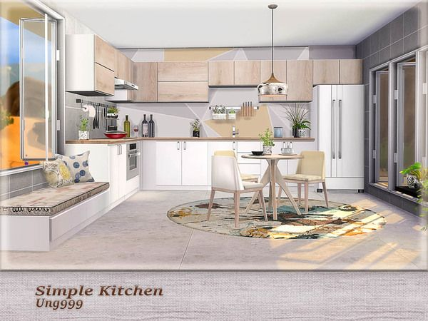 Awesome Kitchen By Ung999 Click On The Name And See More I Had To Have This One You Know Sims 4 Kitchen Sims 4 House Design Sims 4 Cc Furniture Living Rooms