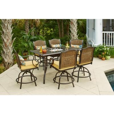 Hampton Bay Vichy Springs 7 Piece Patio High Dining Set FRS80572SST   The  Home49 best Patio images on Pinterest   Outdoor furniture  Sam s club  . High Dining Outdoor Tables. Home Design Ideas