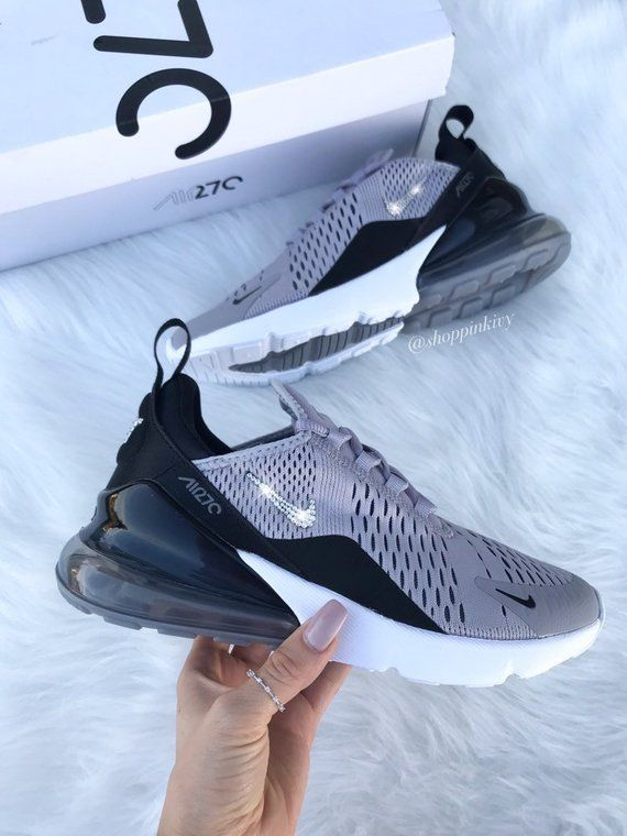 Swarovski Nike Air Max 270 Shoes Blinged Out With Swarovski Etsy Galaxy Shoes Nike Shoes Women Swarovski Nike