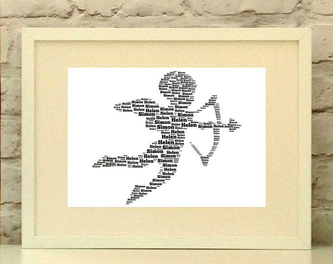 Cupid Personalised Art  Personalised print ideal for Valentines day or a wedding gift.  Made to order. Ships world wide.  #pepperdoodles #weddinggift #valentinesday