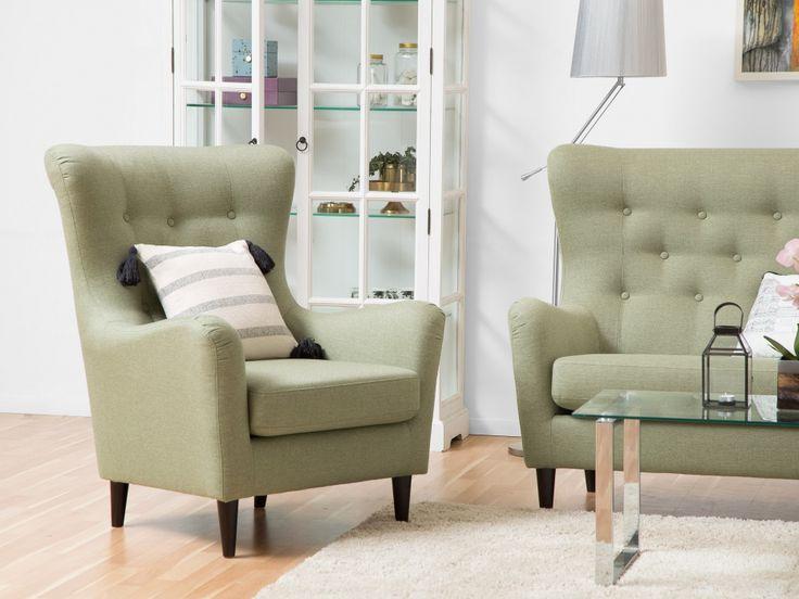 GRACE Fåtölj Grön - Finns i flera färger! Härlig retrofåtölj från Furniturebox.