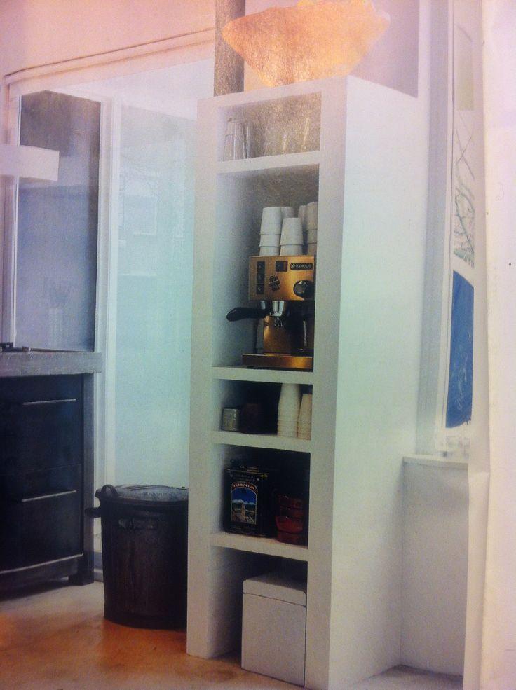 Achterwand Keuken Mdf : Kast van celbeton en mdf-platen woonkamer Pinterest