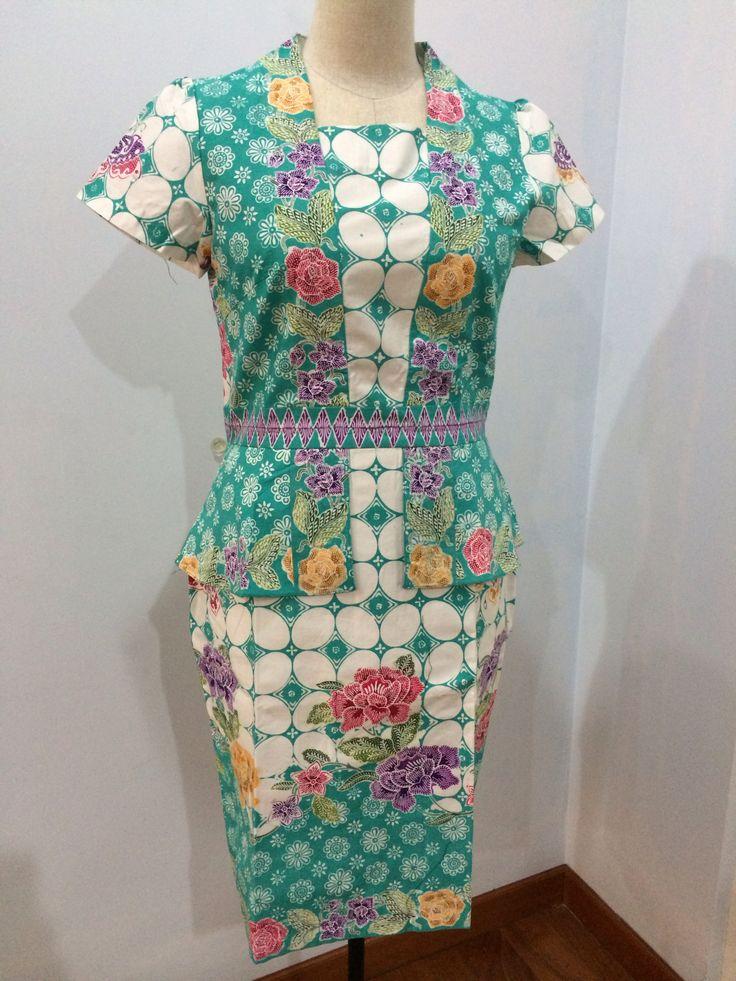 Kunthi dress made from batik encim Pekalongan. Dress is made by Dongengan (Facebook: https://m.facebook.com/dongengan)
