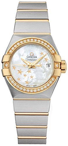 Omega Constellation Moth of Peal Stainless Steel and Yellow Gold Ladies Watch 12...