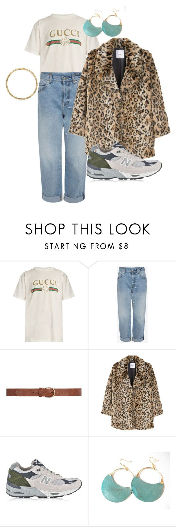 """""""Copenhagen Trends"""" by vintageloadies ❤ liked on Polyvore featuring Gucci, Dorothy Perkins, MANGO, New Balance and Sevil Designs"""