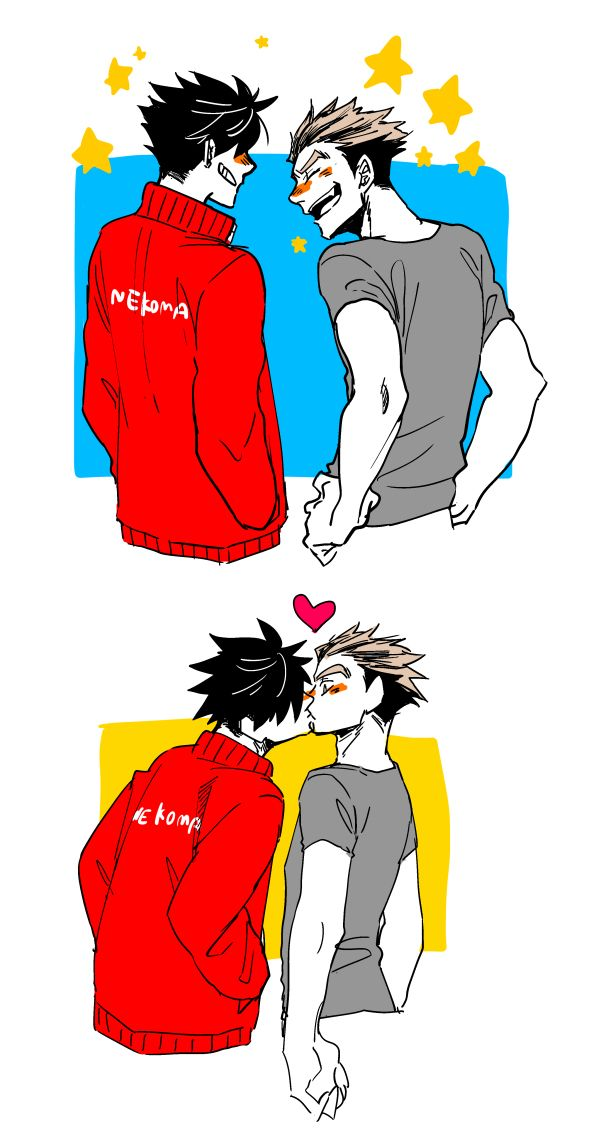 I admit that I dont ship them so much but this is just adorable..♡ bokuroo
