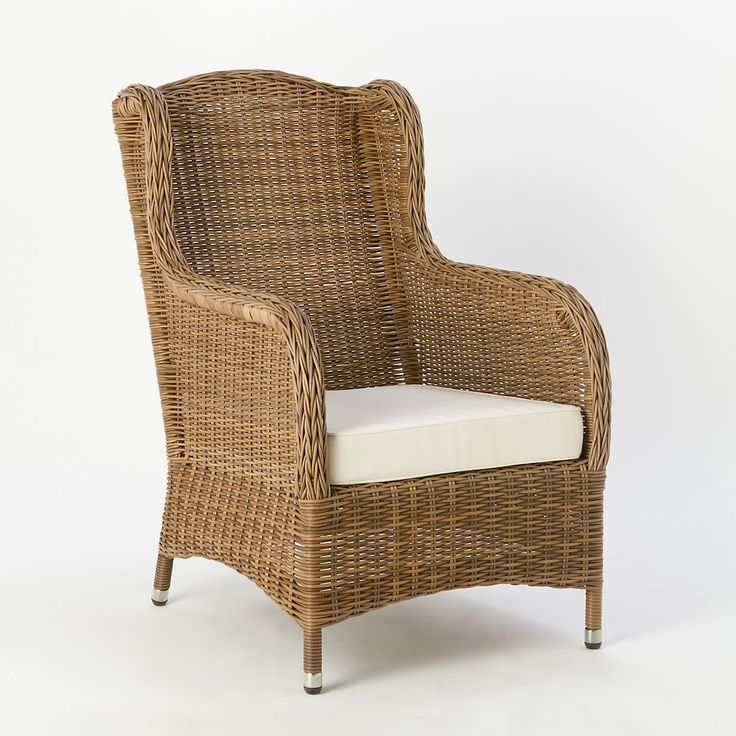 All Weather Wicker Wingback Chair Outdoor Living