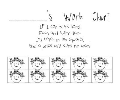 Work chart for students who have trouble finishing work