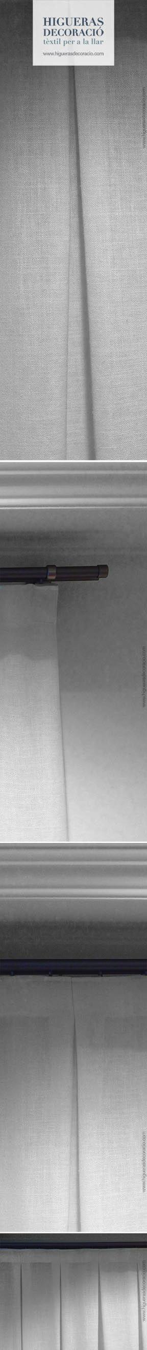 #Barras para cortinas. #Barras decorativas y faciles de instalar. #Cortina confeccionada con pliegues, elegantes y distinguida. #Barres per a cortines. #Barres decoratives i fàcils d'instal·lar. #Cortina confeccionada amb plecs, elegants i distingits. www.higuerasdecoracio.com