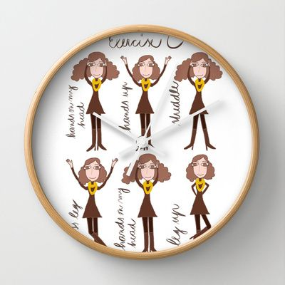 Exercise Wall Clock by ywanka - $30.00
