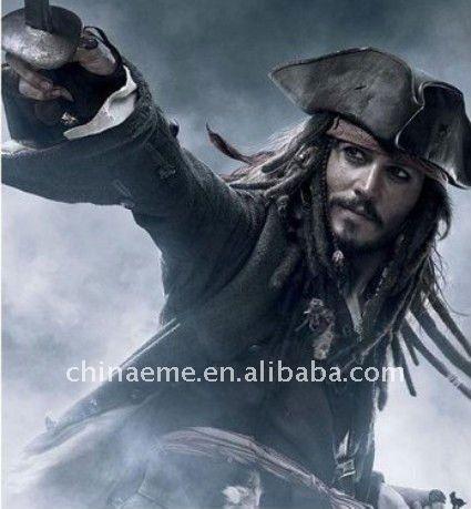 10 шт./лот карибского моря пираты капитан джек кроу шляпа карнавал косплей шляпы H073