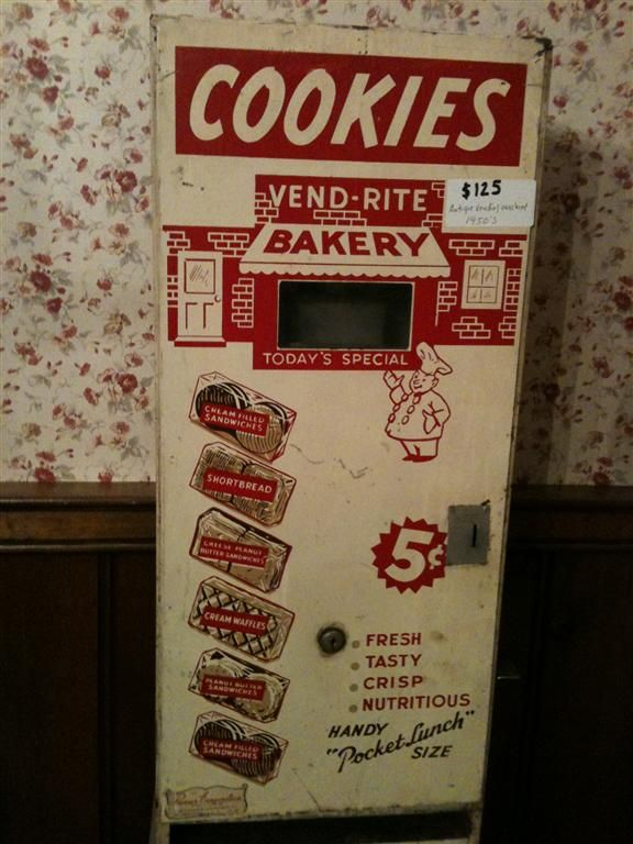 retro vending machines | For that price, it better still have the food in it.