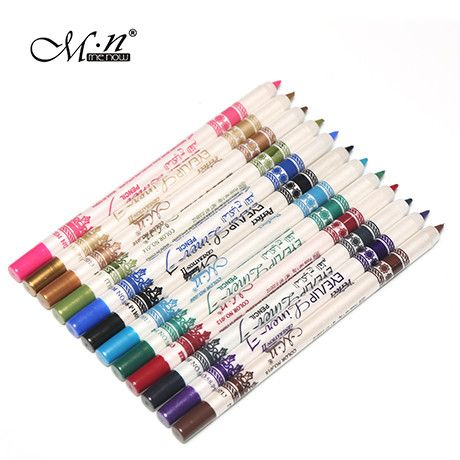 New Arrival Professional Waterproof Cosmetic eye/Lip Liner Lipliner Pen Pencil Makeup Multi-Colors perfilador de labios