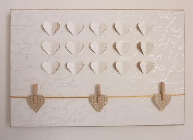 P le m le cadre petits coeurs effets 3d nuances de mots d co - Nuances et decoration ...