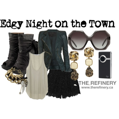 Edgy night out | My Style | Pinterest