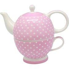Tea For One Pink Polka Dot. Garden Friendly.
