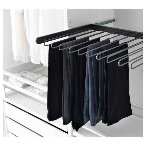 Komplement Pull Out Pants Hanger Dark Gray Ikea Trouser Hangers Pant Hangers Ikea Komplement