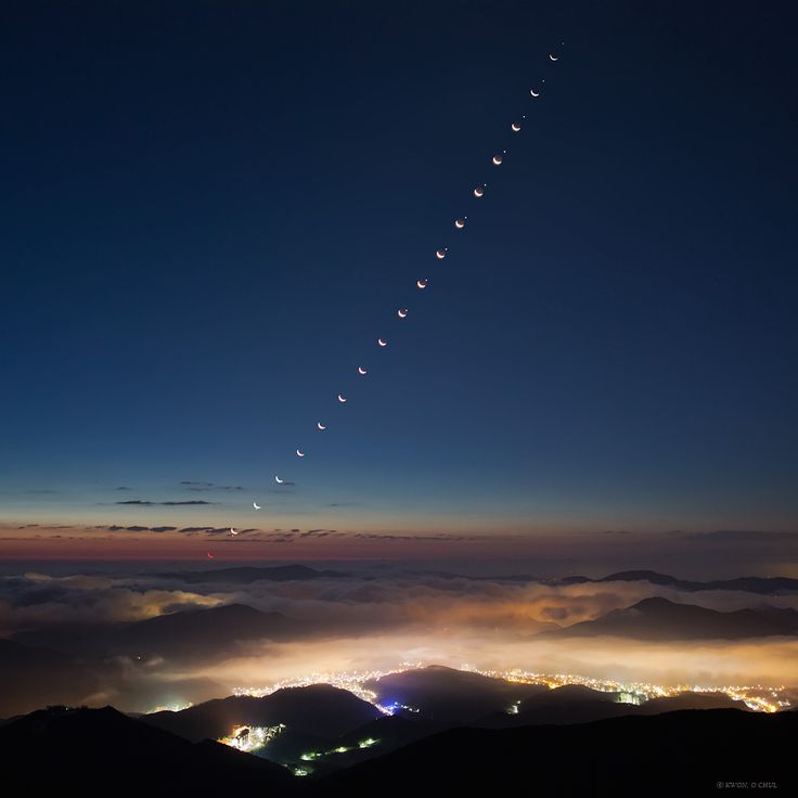 Moon Meets Morning Star (Aug 24 2012)  Image Credit & Copyright: Kwon, O Chul (TWAN)  Explanation: Rising in the dark hours before dawn, wandering Venus now shines as the brilliant morning star. Its close conjunction with the Moon on August 13 was appreciated around planet Earth. But skygazers in eastern Asia were also treated to a lunar occultation, the waning crescent Moon passing directly in front of the bright planet in still dark skies. #astronomy