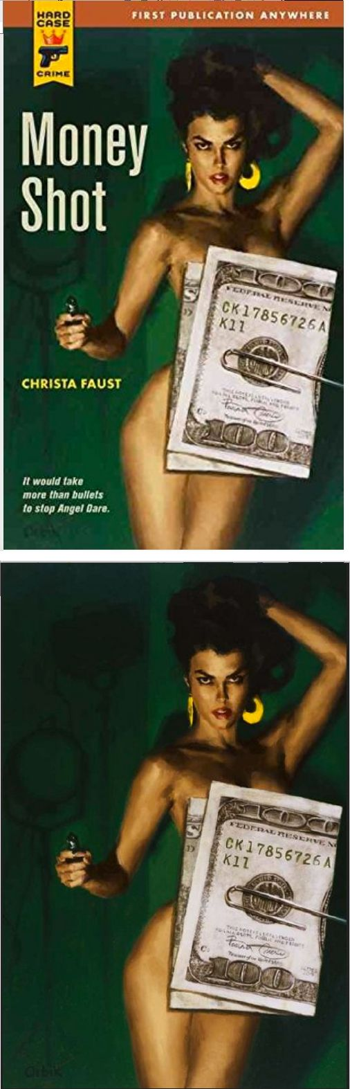 GLEN ORBIK - Money Shot by Christa Faust - 2008 Hard Case Crime - cover by amazon - print by americangallery.files.wordpress