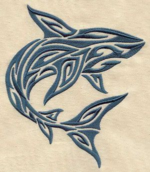 Embroidery Designs at Urban Threads - Tribal Shark