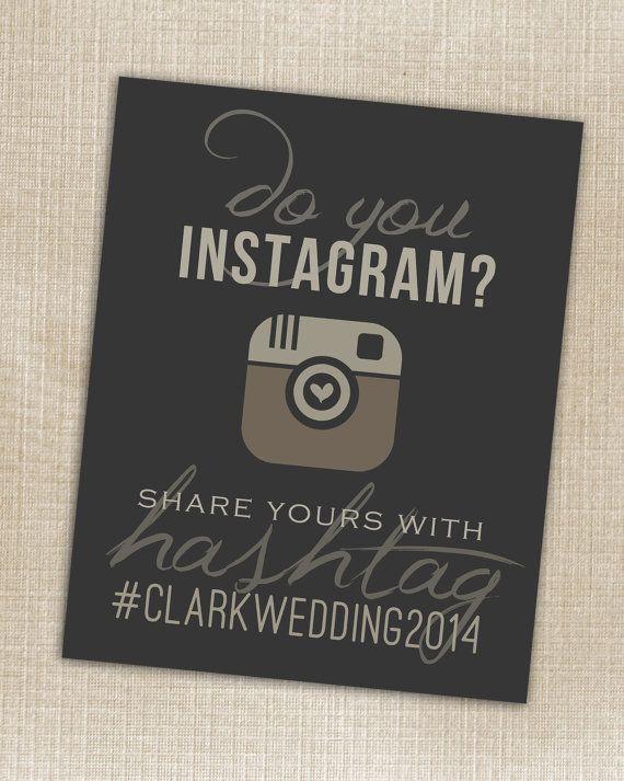Hashtag Print  Wedding Instagram Black  Printable by PrincessSnap