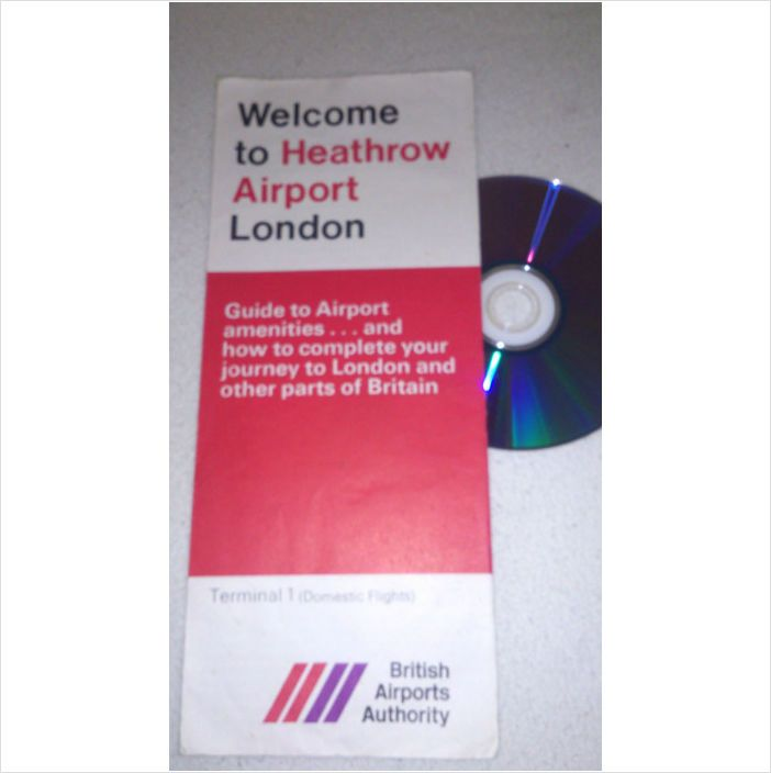 London Airport 1969 Vintage WELCOME TO HEATHROW Queens