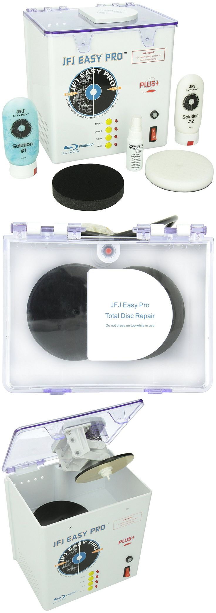 Disc Repair and Disc Cleaning: Cd Repair Machine Kit Video Game Disc Dvd Scratch Skip Cleaner Ps2 Ps3 Ps4 Xbox BUY IT NOW ONLY: $154.97