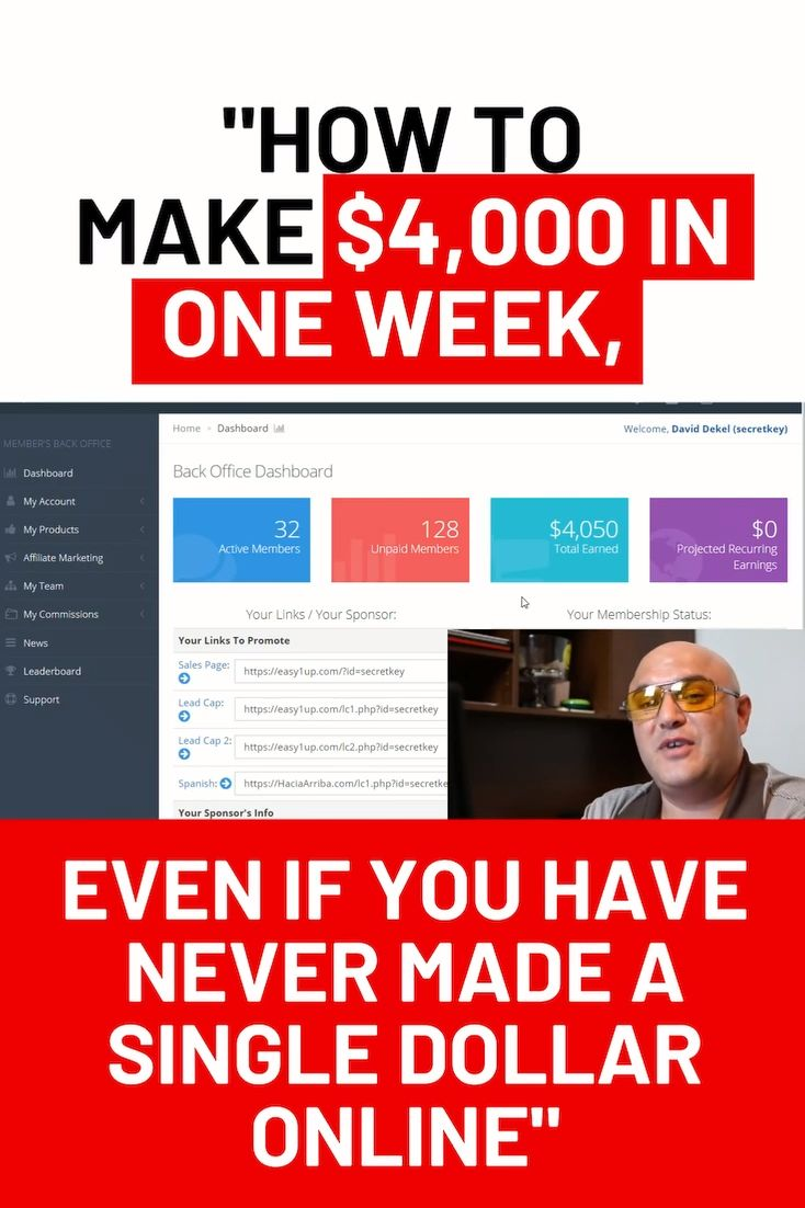 David Shows Us How He Made Over $4k In One Week! Making Money Online Is Easier Than Ever With This! – Luzviminda