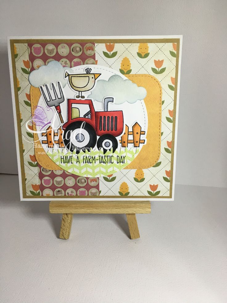 Mft farm-tastic  Card created by Angel Handmade Papercraft