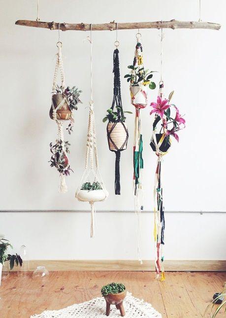 inspiracje w moim mieszkaniu: Makrama, sznurkowe dekoracje w stylu boho / Makram...