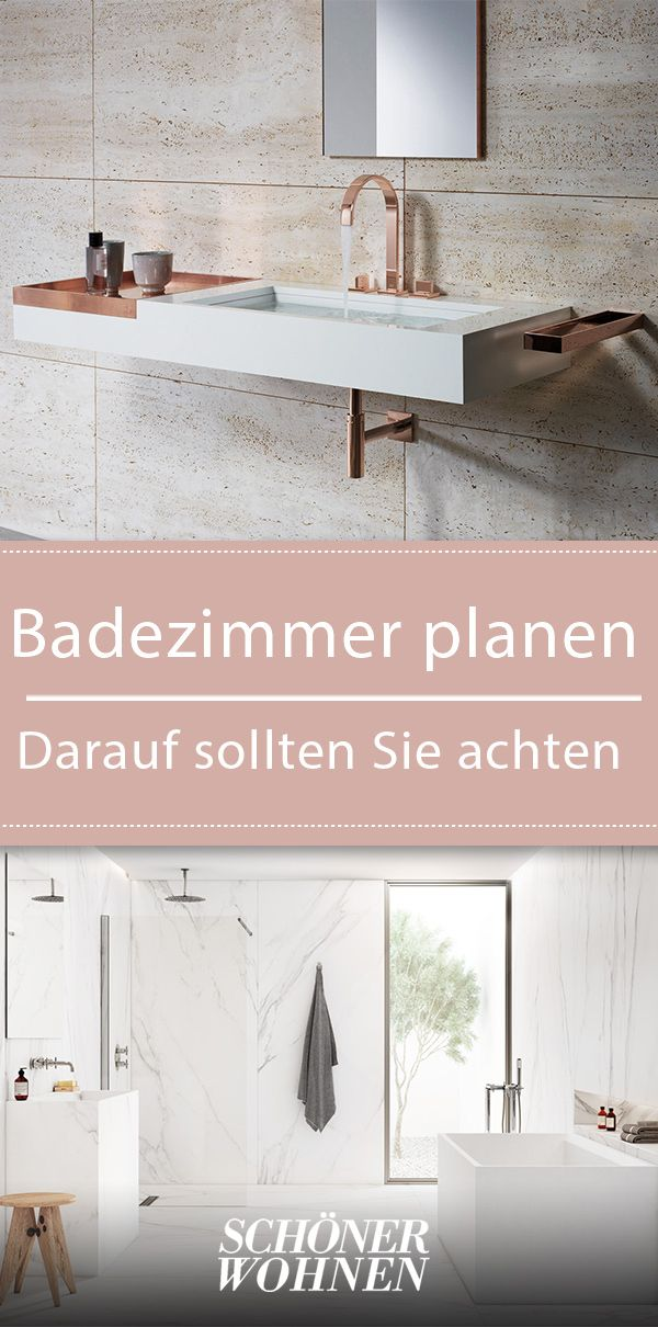 Badezimmer planen & gestalten – so geht's