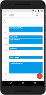 Google Calendar for Android: Find a time for my meeting