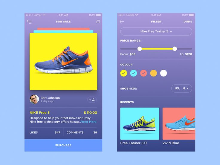 SneakerUI by Daniel Klopper #zeeenapp