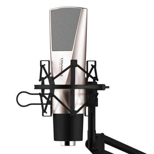 [$28.64] Yanmai Q6 Professional Game Condenser Sound Recording Microphone with Holder(Black)