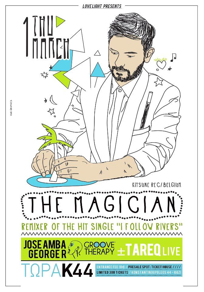 The Magician / Poster design by kuki graphics https://www.facebook.com/kukigraphicdesign?ref=hl