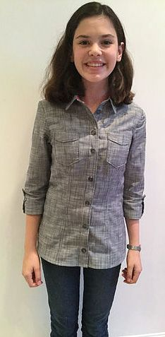 Anna's Rosa shirt - sewing pattern by Tilly and the Buttons