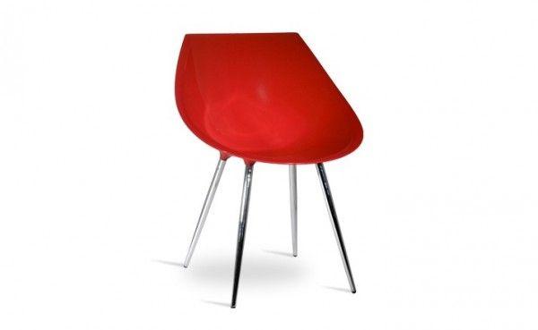 Chaise design contemporain vintage rouge  http://www.homelisty.com/chaise-design-pas-cher/