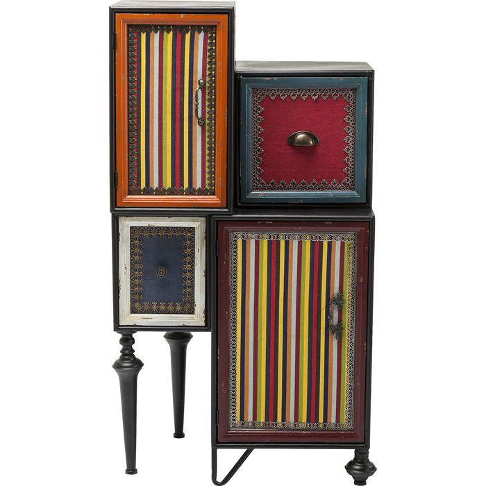 Ντουλάπι Fun Factory (2 πόρτες & 2 συρτιάρια) Ένα υπέροχο έπιπλο με διαχρονική αξία και vintage look. Μία ιδιαίτερη σύνθεση με δύο ντουλαπάκια και δύο συρτάρια που δημιουργούν μία πρακτική λύση με αποθηκευτικό χώρο σε όποιο χώρο του σπιτιού αποφασίσετε να το τοποθετήσετε. Υλικό: Πλαίσιο από μέταλλο και λακαριστό MDF, μεταλλικά συρτάρια επικαλυμμένα από λινό υφαντό, συρτάρια από ξύλο έλατου και πόδια από ξύλο και μέταλλο.