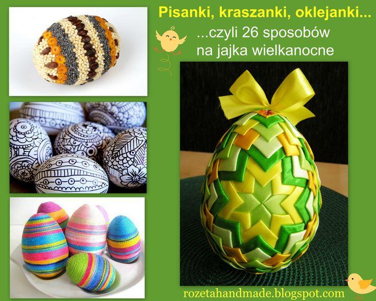Szukasz pomysłu jak ozdobić jajka na Wielkanoc? Koniecznie odwiedź rozetahandmade.blogspot.com, znajdziesz tam mnóstwo inspiracji:-)