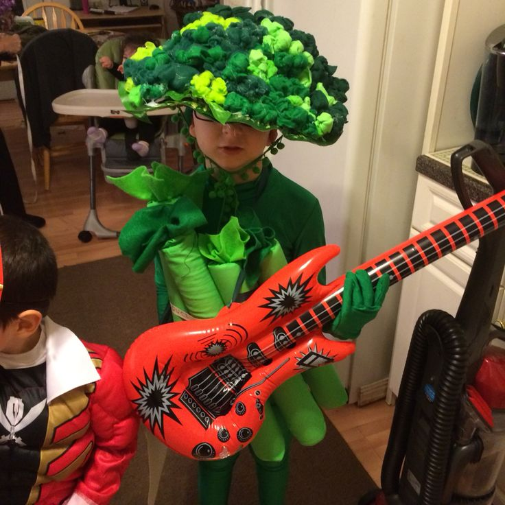 Broccoli hand crafted Halloween costume ! broccoli rocks!