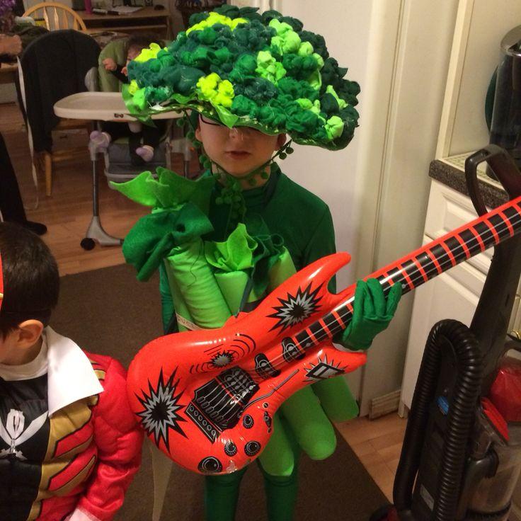 Broccoli hand crafted Halloween costume ! broccoli rocks!