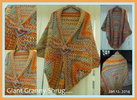 Granny square wrap