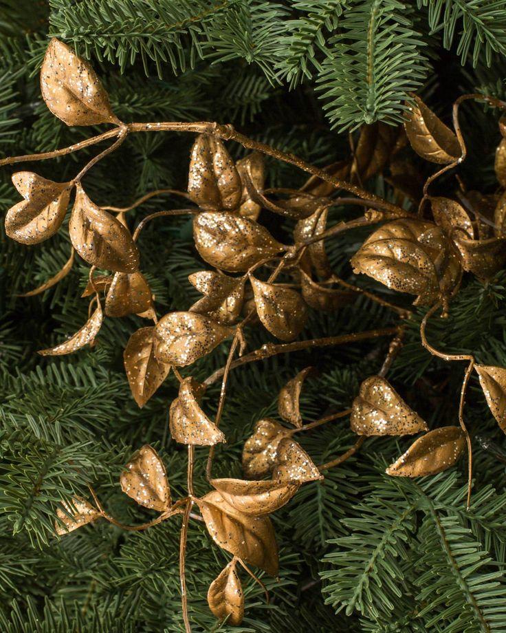 Gilded Leaves Picks (Set of 12) | Balsam Hill