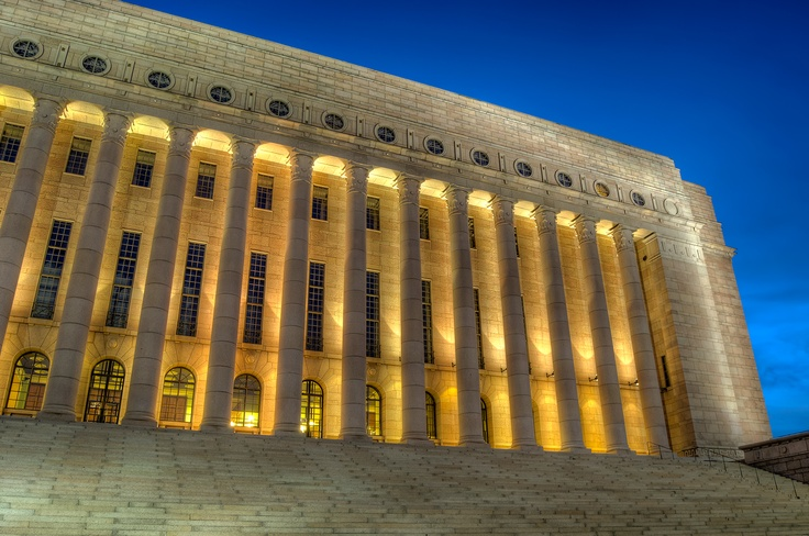 The Finnish Parliament House is located in central Helsinki, visit for fascinating architecture and nail-biting politics. Guided tours organised on weekends.