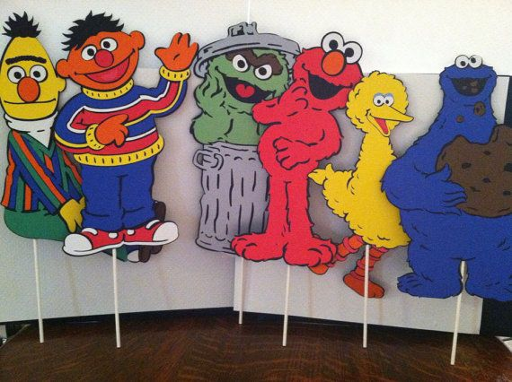 Sesame Street's The Whole Gang 11 Centerpiece by aSavvyScrapbooker, $30.00