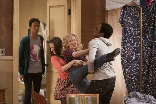 "Danny Pudi, Alison Brie, Gillian Jacobs, and Donald Glover in Community from ""Or..."