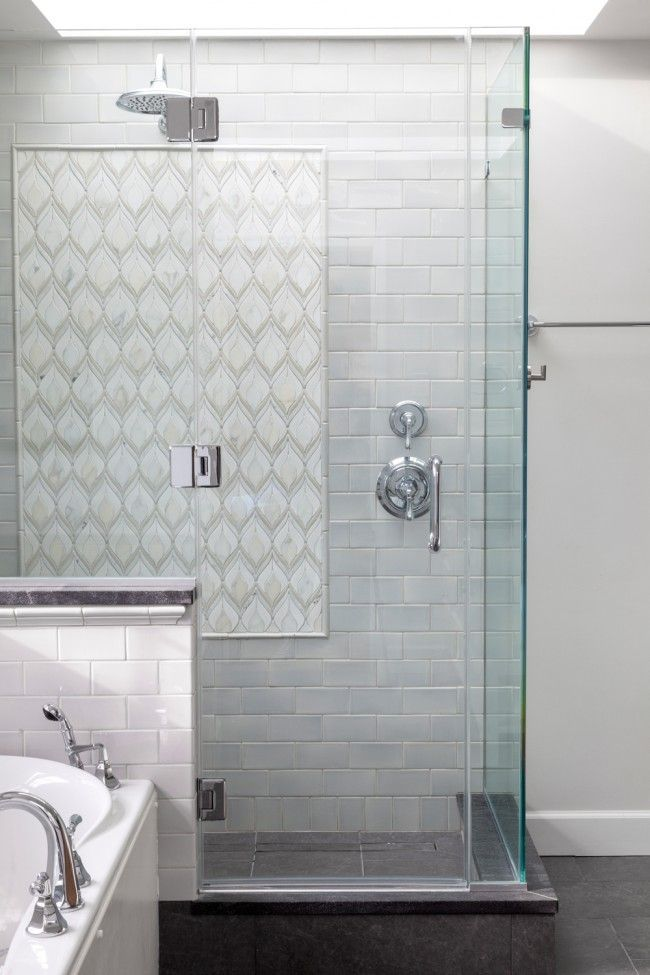 patterned tile and mixed with subway - Google Search ...